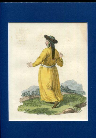 Kolorierter Kupferstich - A Teleutan Tartar Woman of Kousnetzk Plate XXXIII Erstauflage, EA.