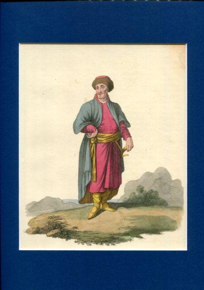 Kolorierter Kupferstich - A Tartar of Kazan. Plate XVIII. Erstauflage, EA.