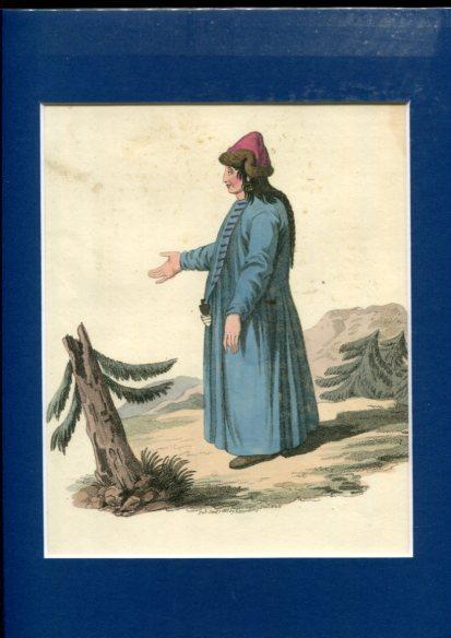 Kolorierter Kupferstich - a Barbinitzian Girl. Plate XXIX. Erstauflage, EA.