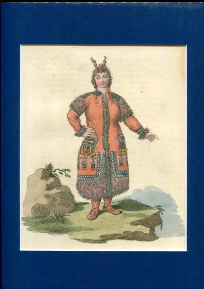 Kolorierter Kupferstich - a Fmale Yakut. Plate XXXIX. Erstauflage, EA.