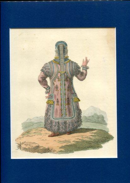 Kolorierter Kupferstich - a Back Figure a Yakutan Girl. Plate XLI. Erstauflage, EA.