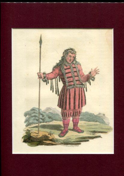 Kolorierter Kupferstich - a Koriak. Plate LV. Erstauflage, EA.