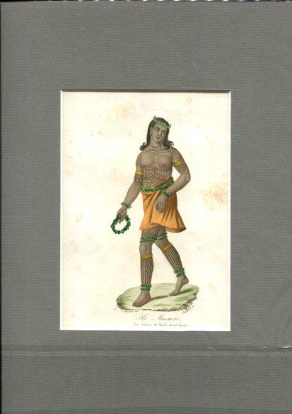 Kolorierter Kupferstich - von Choubard nach Zeichnung von Léopold Massard (1812–1889). Ile Massacre. Erstauflage, EA.