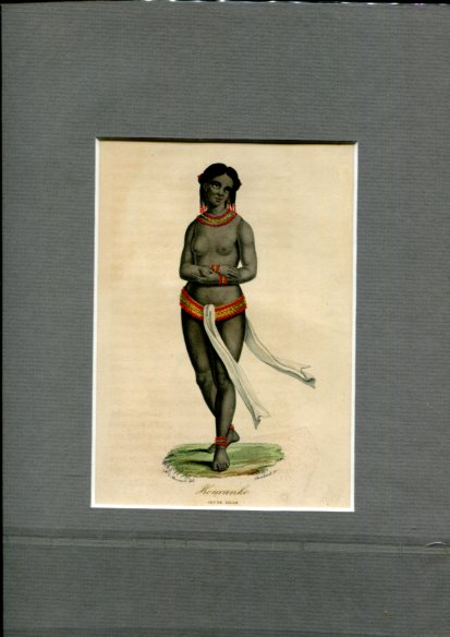 Kolorierter Kupferstich - von Choubard nach Zeichnung von Léopold Massard (1812–1889). Kouranko Jeune Fille. Erstauflage, EA.