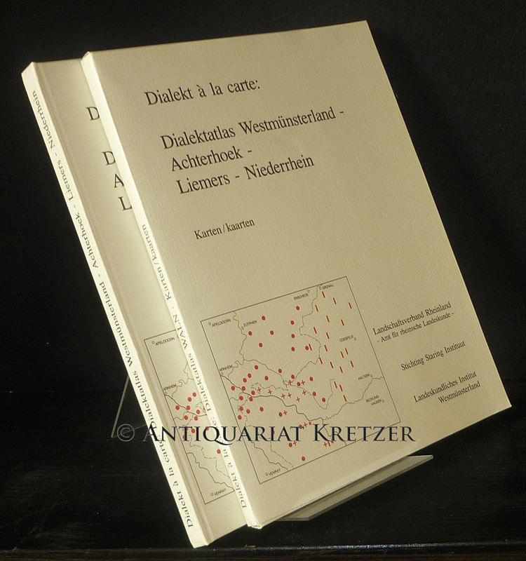 Dialekt à la carte. Dialektatlas Westmünsterland - Achterhoek - Liemers - Niederrhein. Herausgegeben von Georg Cornelissen, Alexander Schaars und Timothy Sodmann. (= Rheinische Mundarten, Band 5 / Westmünsterland, Band 3). Textband und Kartenmappe (= 2 Bände, vollständig).