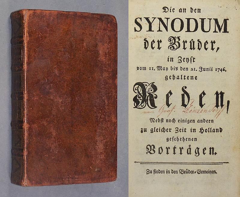 Die an den Synodum der Brüder, in Zeyst vom 11. May bis den 21. Junii 1746. gehaltene Reden, Nebst noch einigen andern zu gleicher Zeit in Holland geschehenen Vorträgen.