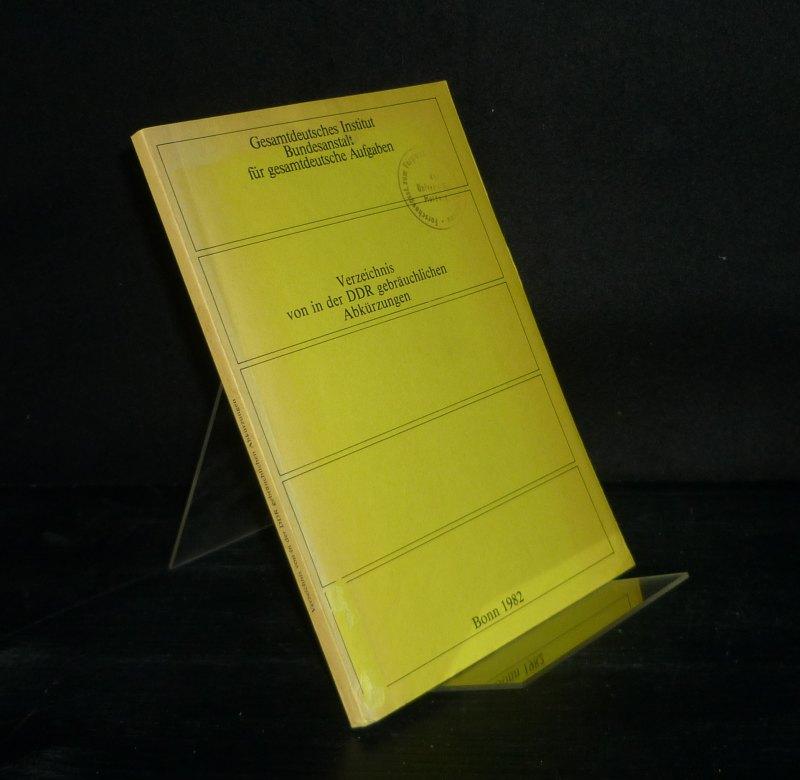 Verzeichnis von in der DDR gebräuchlichen Abkürzungen.