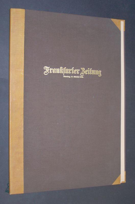 Reproduktion der Originalausgabe der Frankfurter Zeitung vom 25. Oktober 1919.