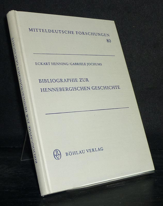 Bibliographie zur hennebergischen Geschichte. [Bearbeitet von Eckart Henning und Gabriele Jochums]. (= Mitteldeutsche Forschungen, Band 80).