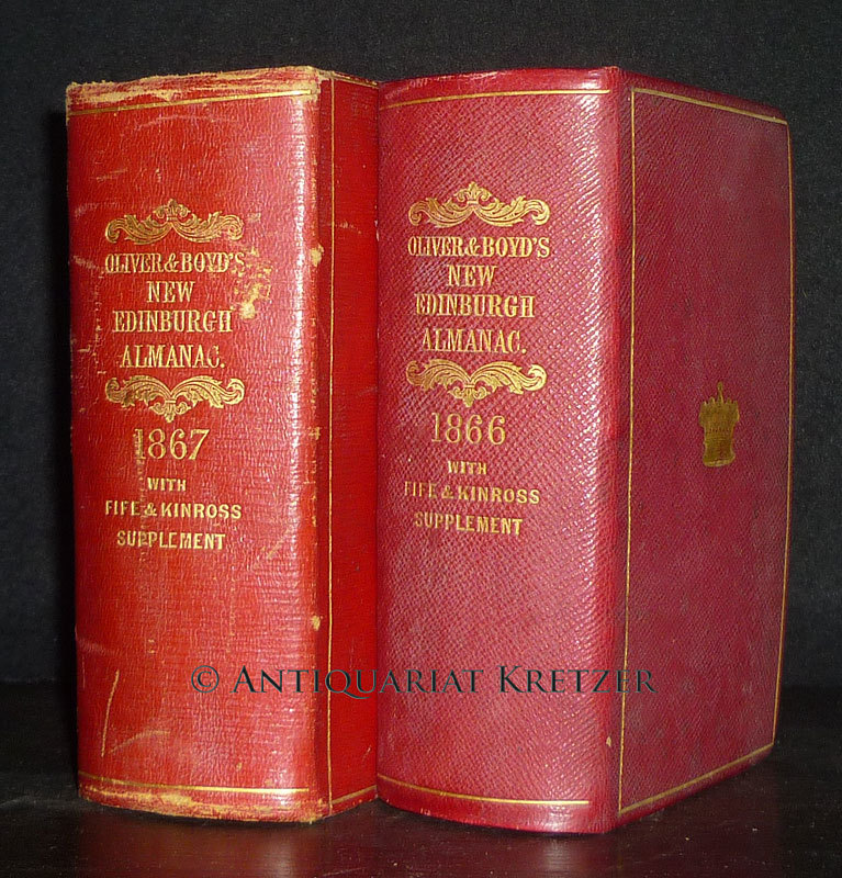 Oliver & Boyd's New Edinburgh Almanac and National Repository for the Year 1866 & 1867. 2 Jahrgänge in 2 Bänden.