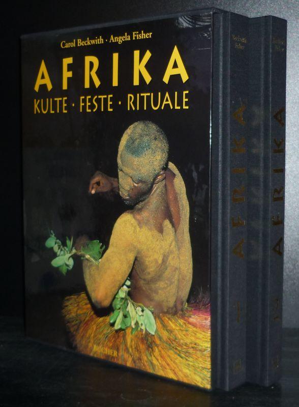 Afrika. Kulte, Feste, Rituale. Band 1 und 2 komplett. [Von Carol Beckwith und Angela Fisher]. 2 Bände (= so vollständig).