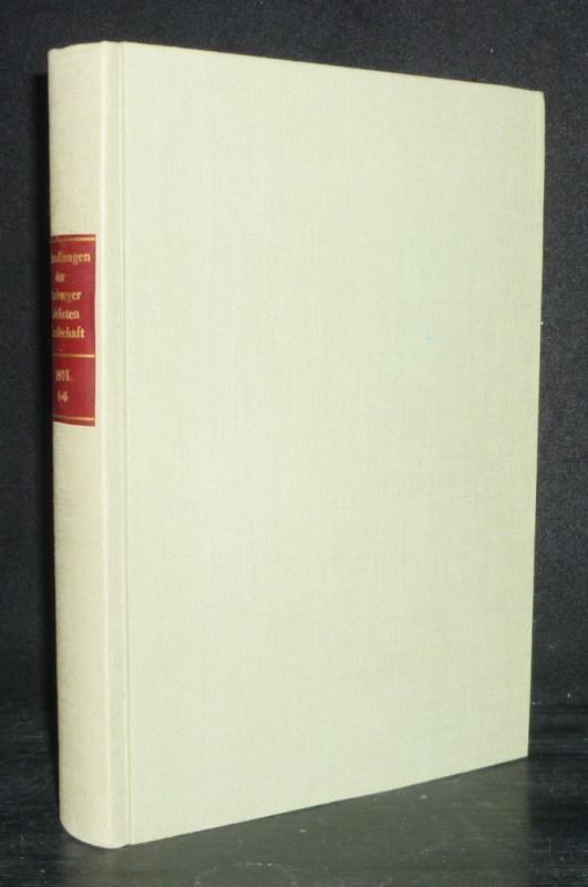 Abhandlungen der Marburger Gelehrten Gesellschaft. Jahrgang 1971, Nummer 1 [bis 6].