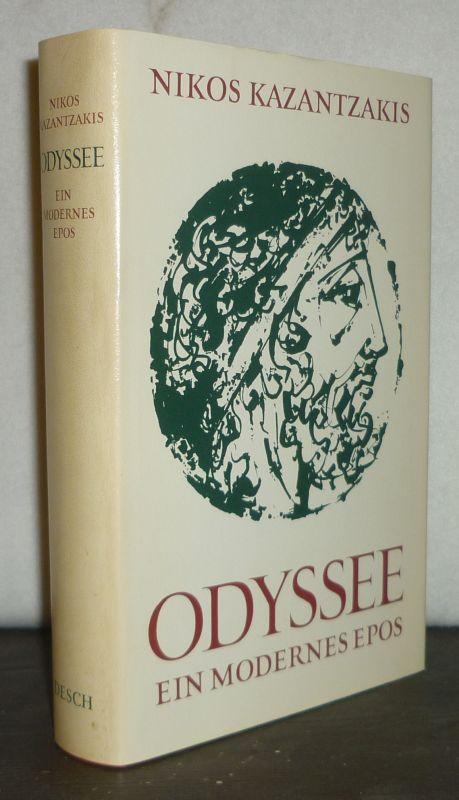Odyssee. Ein Modernes Epos von Nikos Kazantzakis. Übertragen in deutsche Verse von Gustav A. Conradi.
