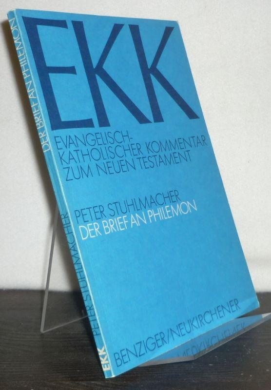 Der Brief an Philemon. Von Peter Stuhlmacher. (= EKK. Evangelisch-Katholischer Kommentar zum Neuen Testament, Band 18).