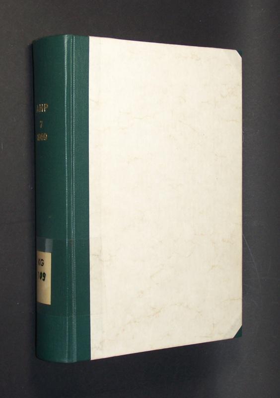 Archivum Historiae Pontificiae, No. 7. AHP Band 7.