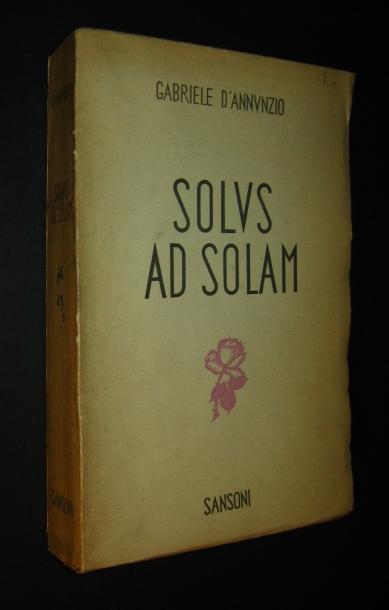 Solus ad solam [von Gabriele D´annunzio], Pubblicato da Jolanda de Blasi con una premessa,