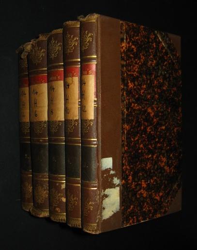 Konvolut von fünf Bänden: Dramatische Werke [von Friedrich Halm, d. i. Eligius Franz Joseph Freiherr von Münch-Bellinghausen], Bd. 1, 3, 5, 6, 7; in: Friedrich Halm´s Werke, Bd. 2, 4, 6, 8, 10,