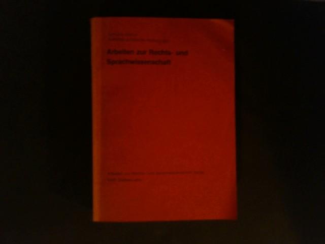 Gießener juristische Vorlesungen. Von Gerhard Köbler. (= Arbeiten zur Rechts- und Sprachwissenschaft, Band 21).