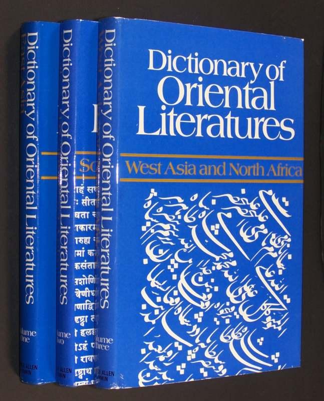 Dictionary of Oriental Literatures. 3 Bände. Volume 1: East Asia. - Volume 2: South and South-East Asia. - Volume 3: West Asia and North Africa. Edited by Jaroslav Prusek. 3 Bände (komplett).