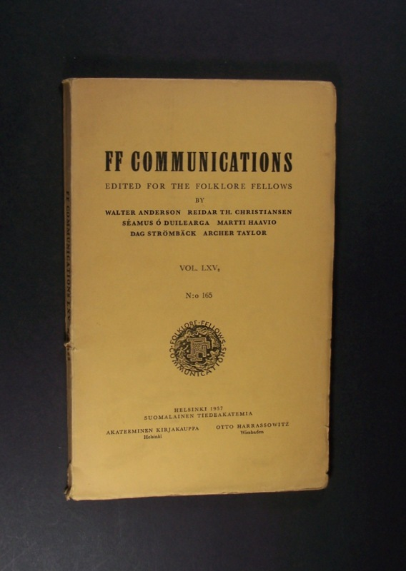 Jacob Grimm und Finnland. Von Erich Kunze. (= FF Communications No. 165).