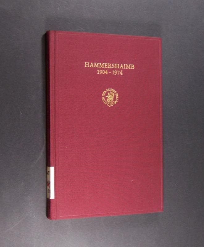 Hammershaimb 1904-1974. Offprint from Vetus Testamentum, Vol. 24.