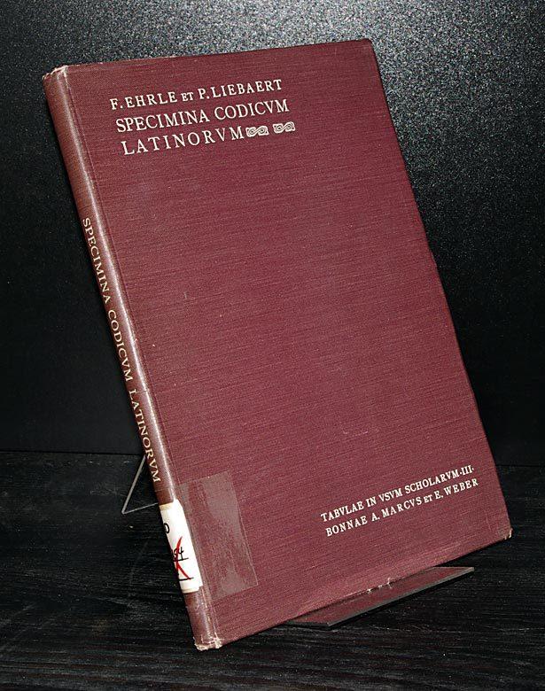 Specimina codicum latinorum Vaticanorum. Collegeverunt Franziskus Ehrle et Paulus Liebaert. (= Tabulae in usum scholarum, Band 3).