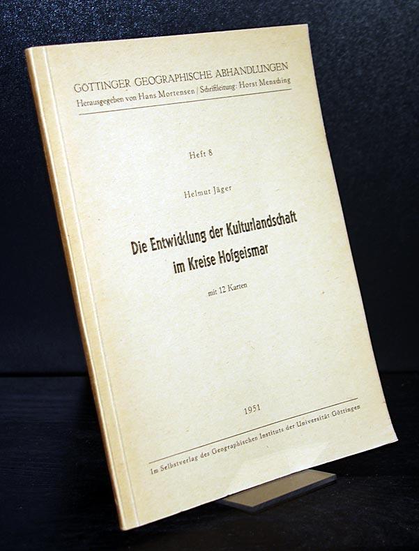 Jäger, Helmut: Die Entwicklung der Kulturlandschaft im Kreise Hofgeismar. Von Helmut Jäger. (= Göttinger geographische Abhandlungen, Heft 8).