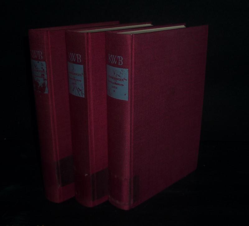 Kommunikationspolitik. [3 Bände. Von Franz Ronneberger]. - Band 1: Institutionen, Prozesse, Ziele. - Band 2: Kommunikationspolitik als Gesellschaftspolitik. - Band 3: Kommunikationspolitik als Medienpolitik. (= Kommunikationswissenschaftliche Bibliothek, Band 6, 7 und 8). 3 Bände (= vollständig).