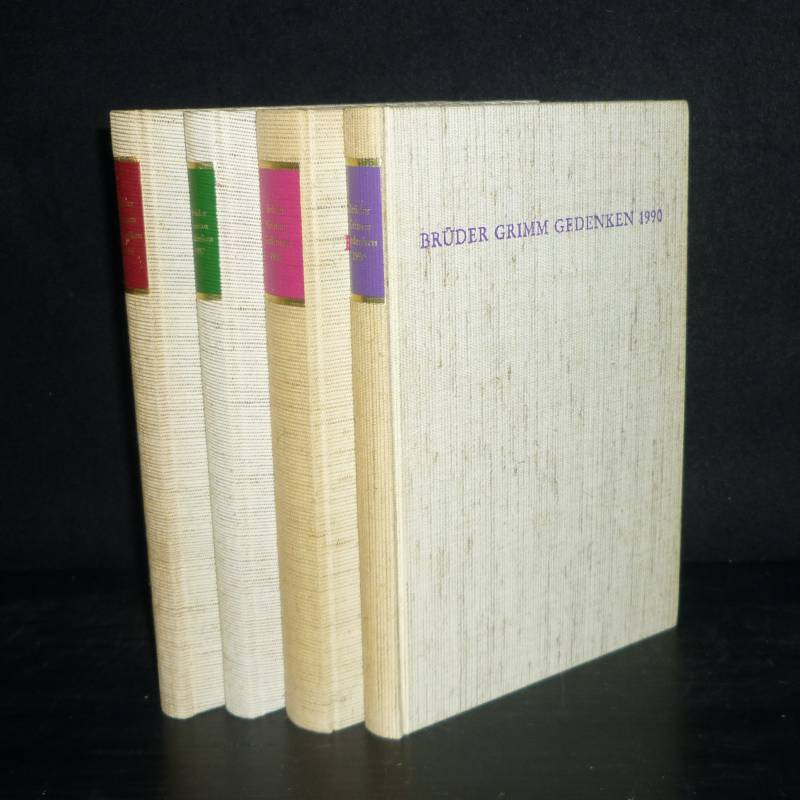 """Konvolut aus 4 Bänden """"Brüder-Grimm-Gedenken"""": Band 4, 7, 8 und 9. (= Schriften der Brüder-Grimm-Gesellschaft, Band 8, 15, 20 und 24). 4 Bände."""