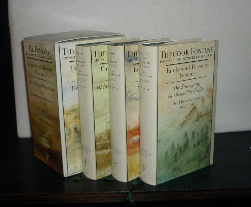 Emilie und Theodor Fontane: Der Ehebriefwechsel in drei [3] Bänden. Herausgegeben von Gotthard Erler. (in: Große Brandenburger Ausgabe). 3 Bände (= vollständig). / 2. Auflage.