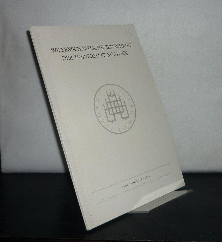 Wissenschaftliche Zeitschrift der Universität Rostock. Gesellschafts- und sprachwissenschaftliche Reihe, Jahrgang 24, 1975, Heft 9.