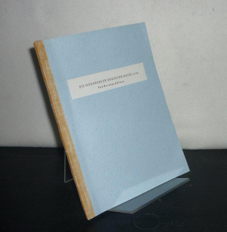 Jahrbuch für Liturgik und Hymnologie - 1. Jahrgang 1955. [Herausgegeben von Konrad Ameln, Christhard Mahrenholz und Karl Ferdinand Müller]. Sonderdruck.