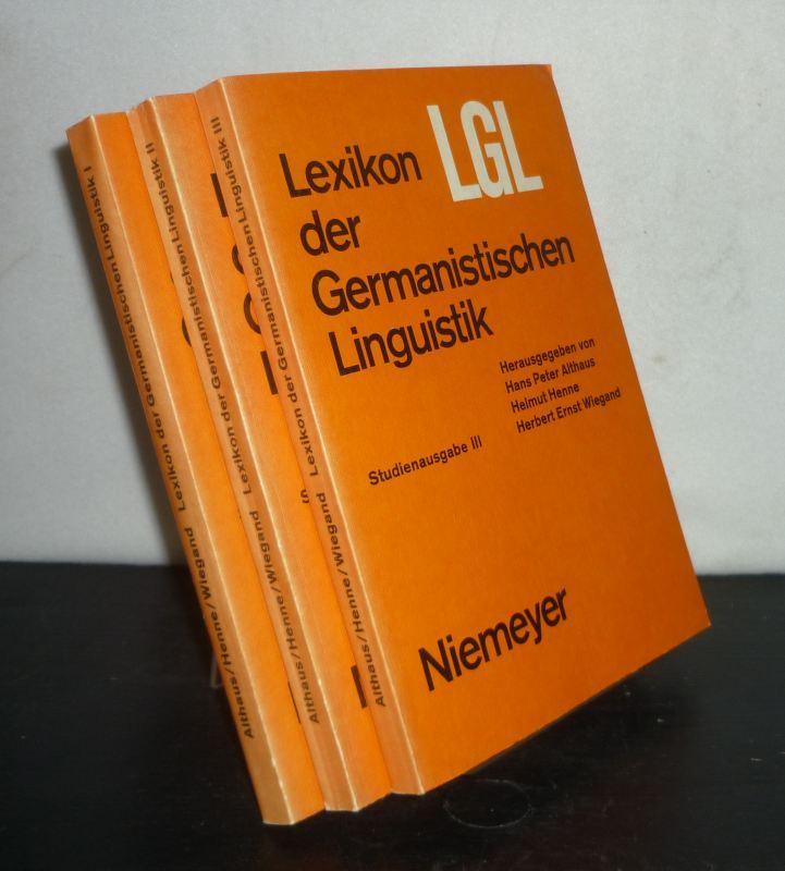 Lexikon der germanistischen Linguistik. [3 Bände. - Herausgegeben von Hans Peter Althaus, Helmut Henne und Herbert Ernst Wiegand]. 3 Bände. / Studienausgabe.