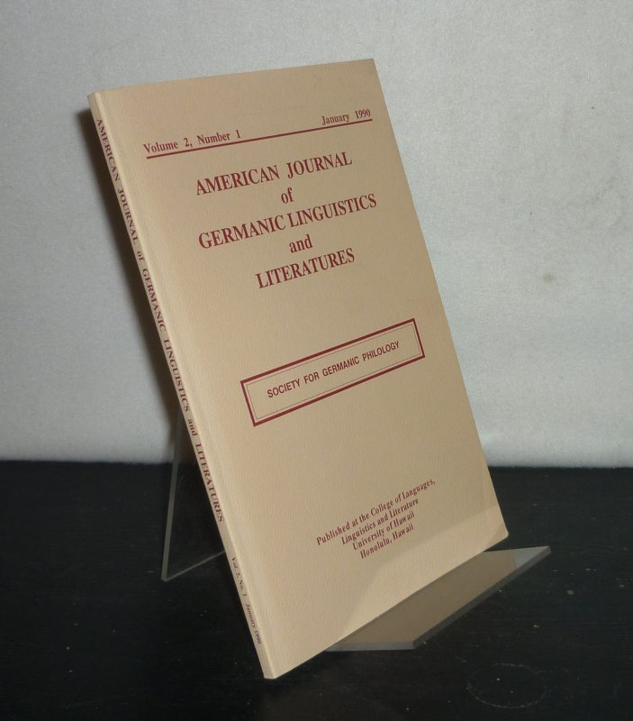 American Journal of Germanic Linguistics and Literatures - Volume 2, Number 1, January 1990. Society for Germanic Philology.