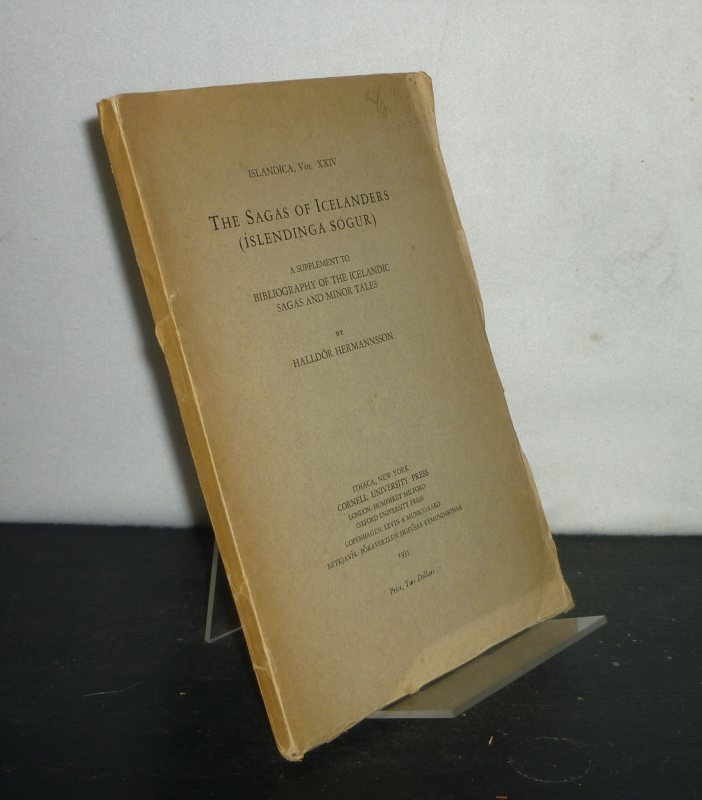 The Sagas of Icelanders (Íslendinga Sögur). A Supplement to Bibliography of the Icelandic Sagas and Minor Tales. By Halldór Hermannsson. (= Islandica, Volume 24).
