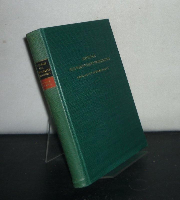 Beiträge zur Wirtschaftsforschung. Festgabe für Walther Däbritz.