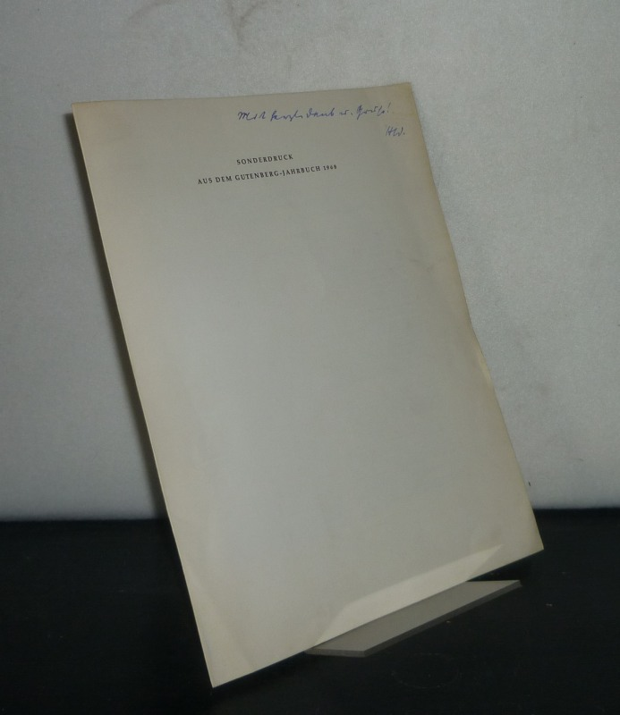 """""""Die Krisis des deutschen Buchhandels"""". Bemerkungen zu einer Apologie für den Büchernachdruck aus dem Jahre 1815. [Von Hans Widmann]. Sonderdruck aus dem Gutenberg-Jahrbuch 1968."""