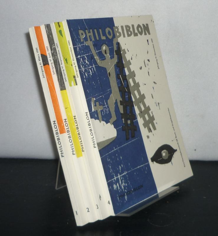 Fuchs, Reimar W. (Hrsg.): Philobiblon. Eine Vierteljahrsschrift für Buch- und Graphiksammler. - Jahrgang 41: 1997, Heft 1-4. [Herausgegeben von Reimar W. Fuchs]. 4 Hefte (= Jahrgang vollständig).