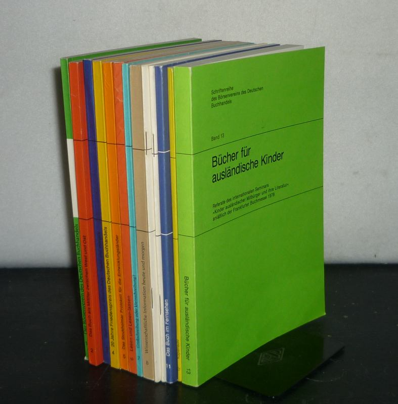 Konvolut aus 13 Bänden (Band 1 - 13) der Schriftenreihe des Börsenvereins des Deutschen Buchhandels. 13 Bände. / Mischauflage.