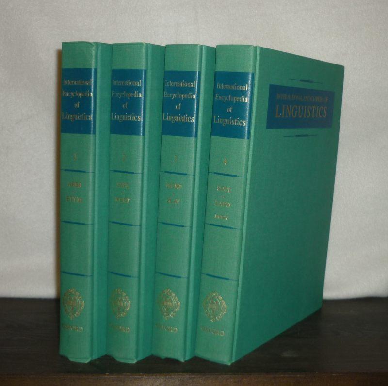 International Encyclopedia of Linguistics. [4 Volumes: A-Z. - Edited by William Bright]. 4 Bände (= vollständig).