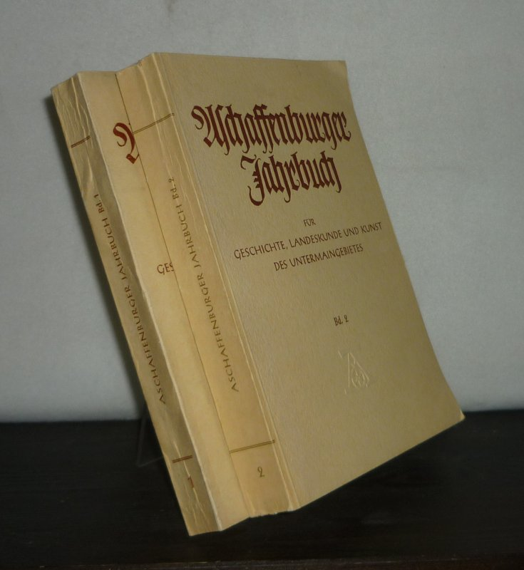 Aschaffenburger Jahrbuch für Geschichte, Landeskunde und Kunst des Untermaingebietes. [2 Bände]. Herausgegeben vom Geschichts- und Kunstverein Aschaffenburg e.V. 2 Bände.