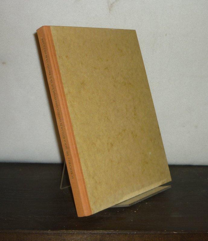 Reichelt, Hans (Hrsg.): Die Soghdischen Handschriftenreste des Britischen Museums. - Teil 1: Die buddhistischen Texte.  [Herausgegeben von Hans Reichelt]. Einzelband.