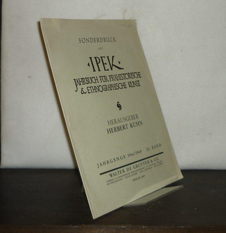Die hallstattzeitliche steinerne Kriegerstele von Hirschlanden, Württemberg. [Von Hartwig Zürn]. Sonderdruck aus: Ipek. Jahrbuch für prähistorische & ethnographische Kunst, Jahrgänge 1966/1969, Band 22.