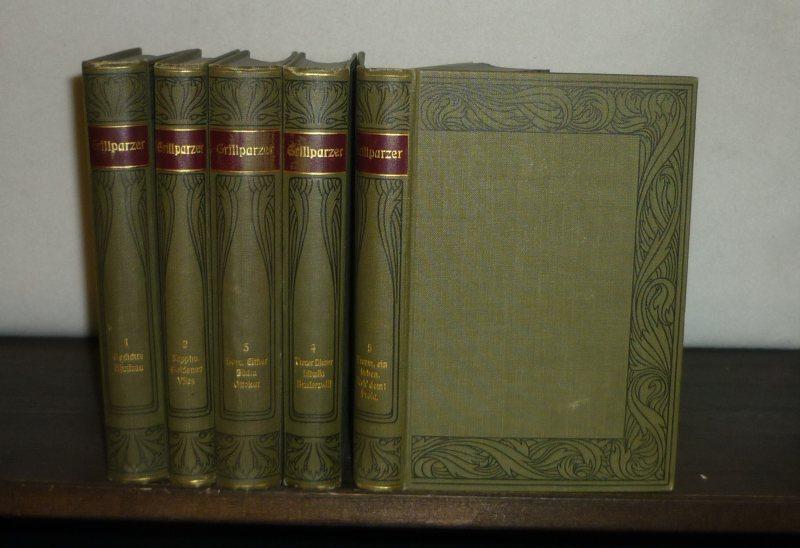 Grillparzers Werke. [5 Bände]. Herausgegeben von Rudolf Franz. (Meyers Klassiker-Ausgaben). 5 Bände (= vollständig). / Kritisch durchgesehene und erläuterte Ausgabe.
