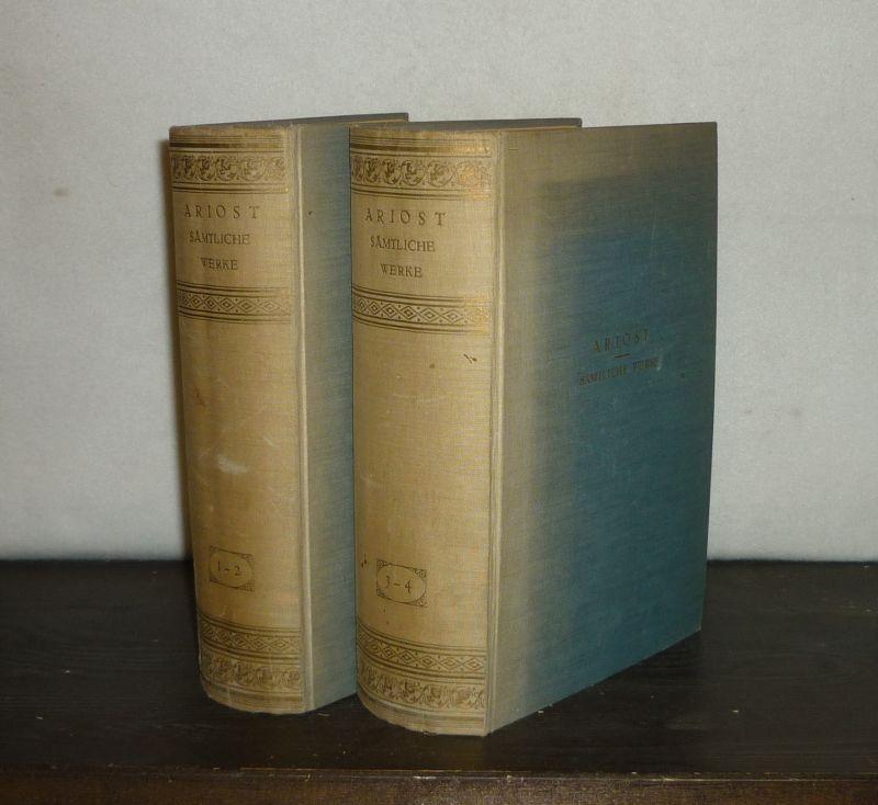 Ludovico Ariosto: Sämtliche poetischen Werke. [4 Bände in 2 Bänden]. Übertragen von Alfons Kissner. 4 Bände in 2 Bänden (= vollständig).