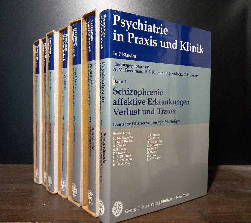 Psychiatrie in Praxis und Klinik. In 7 Bänden. Band 1 bis 7 komplett. [Herausgegeben von A.M. Freedman, H.I. Kaplan, B.J. Sadock & U.H. Peters]. 7 Bände (= vollständig). Mischauflage.