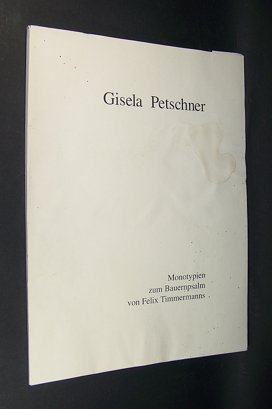 Monotypien zum Bauernpsalm von Felix Timmermann.