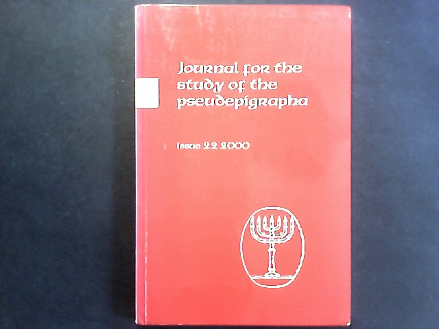 Journal for the study of the pseudopigrapha. Issue 22.2000 October 2000. Mit Beiträgen von Jens Herzer: Direction in Difficult Times: How God is Understood inthe Paralipomena Jeremiae. Berndt Schaller: Is the Greek Version of the Paralipomena Jeremiou Original or a Translation? Einzelheft.