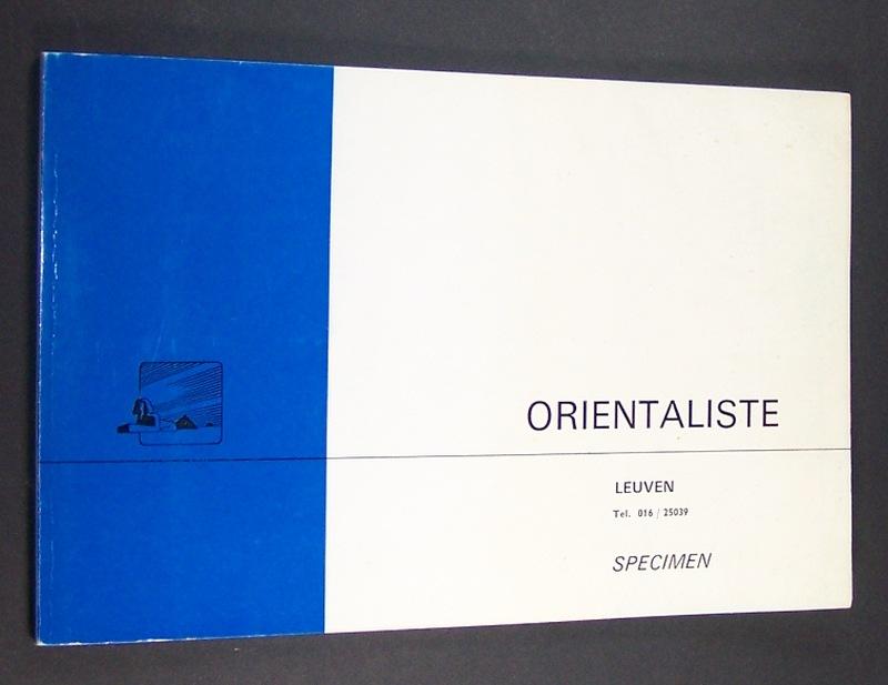 Orientaliste, Specimen. 1882- 1965.