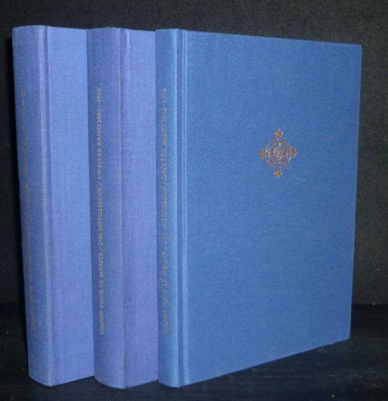 Orden pour le Mérite für Wissenschaften und Künste. Die Mitglieder des Ordens. Band 1 bis 3 komplett. Band 1: 1842-1881; Band 2: 1882-1952; Band 3: Die Verstorbenen der Jahre 1953-1992. Band 1-3 der Mitgliederbände des Ordens (= so vollständig).